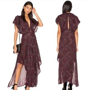 Free People Livia floral maxi dress NWT